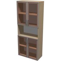 Шкаф для документов ПР601.10 (тонированное стекло)