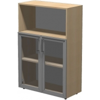 Шкаф низкий ПР602.3 (прозрачное стекло)