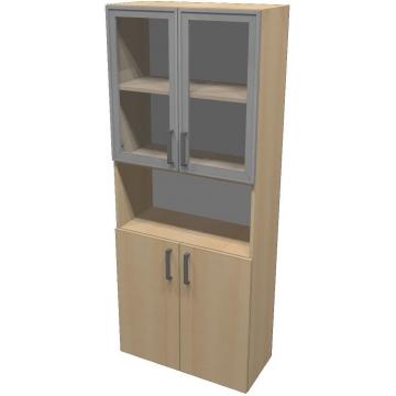 Шкаф для документов ПР601.4 (прозрачное стекло)