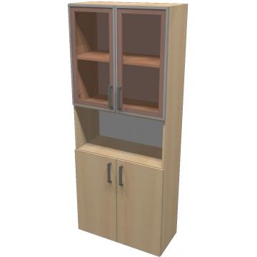 Шкаф для документов ПР601.4 (тонированное стекло)