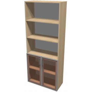 Шкаф для документов ПР601.9 (тонированное стекло)