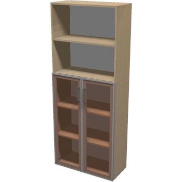 Шкаф для документов ПР601.12 (тонированное стекло)